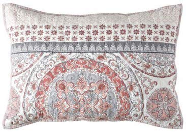 Sunham Home Fashions - Sunham Home Fashions Toren Reversible Standard Pillow Sham in Coral