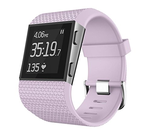 HP95(TM) for Fitbit Surge Bands, Replacement Watch Band Large Size Silicone Bracelet with Clasp Buckle for Fitbit Surge (Purple)