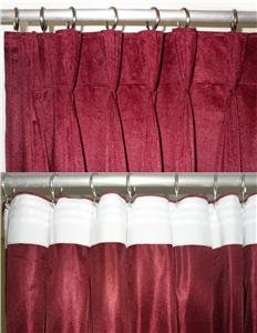 Backdrop Velvet Curtain Pinch Pleated With Gold Stripe Stage Event wall Cover Drapes 10' W x 8'H