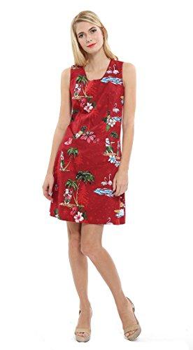 Hawaii Hangover Women's Tank Fit Dress 2XL Christmas Dress Santa Red