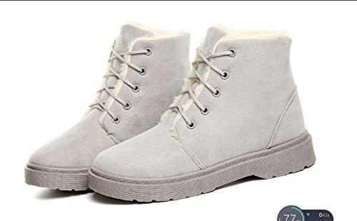 autunno scarpe breve più caldo di cashmere Scarpe da donna donna meters e tacco KUKI cotone stivali da scarpe white stivali inverno ispessimento da a basso 4tq80c