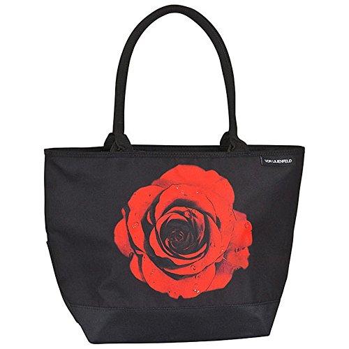 VON LILIENFELD Tasche mit Blumenmotiv - Rose, rot