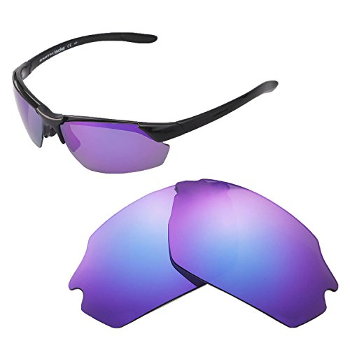 (Walleva Replacement Lenses for Smith Parallel Max Sunglasses - Multiple Options Available (Purple - Polarized))