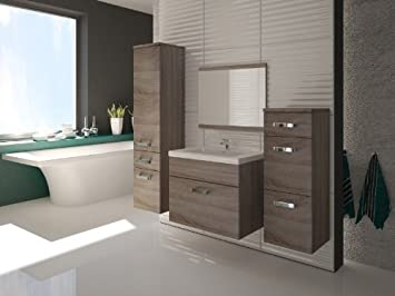 Badezimmermöbel set stehend  Badmöbel / Badezimmer EVO 5tlg. Set in Sonoma Eiche Trüffel ...