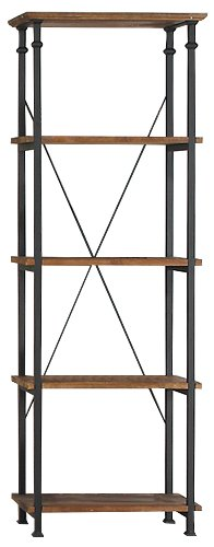 Homelegance 3228 12 Bookcase Shelves Brown product image