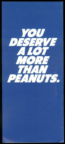 Am Express (Pan Am Express You deserve more than peanuts airline folder 1980s)