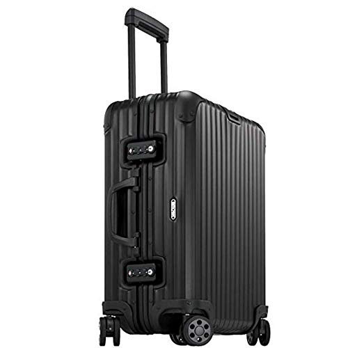 Rimowa Topas Stealth Luggage IATA 21″ Inch Multiwheel 32L Suitcase – Matte Black