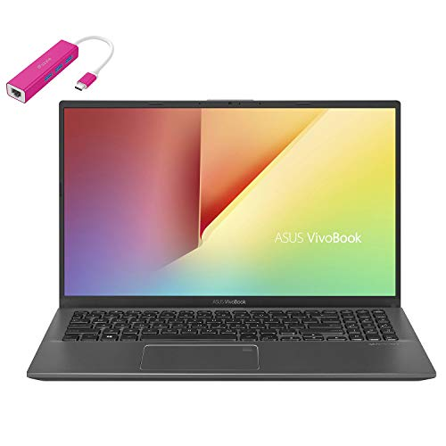"ASUS VivoBook 15 15.6"" FHD Laptop Computer, AMD Quad-Core Ryzen 7-3700U up to 4.0GHz (Beats i7-8565U), 8GB DDR4 RAM, 512GB PCIe SSD, AC WiFi, Webcam, Windows 10, iPuzzle Type-C HUB, Work from Home"