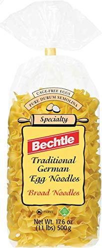 Bechtle Traditional German Broad Egg Noodles, 17.6 Ounce (Pack of 12)