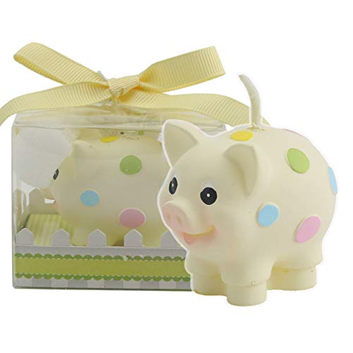 TinaWood Cute Cartoon Pig Birthday Candle, Smokeless Piggy Cake Candles Home-Made Cake Topper, Great Decoration for Home Party Children's Day -