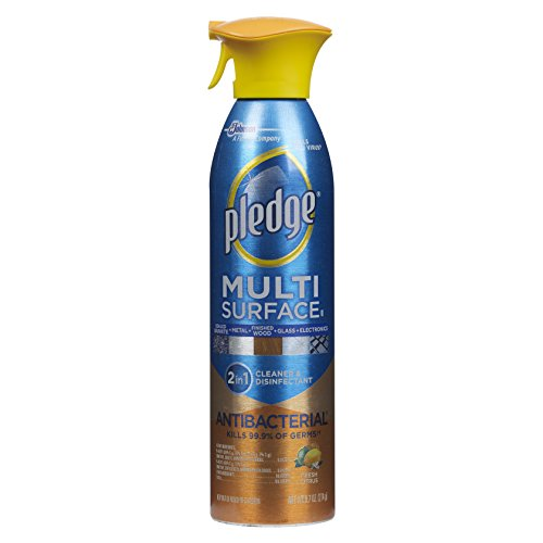 pledge Multi-Surface Spray Antibacterial Wood Polish, Citrus, 9.7 Ounce - Pledge Dust