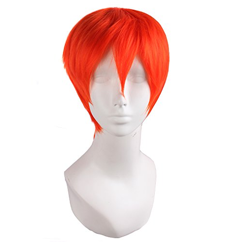 MapofBeauty Cosplay Costume Men's Short Straight Wig (Fluorescent -