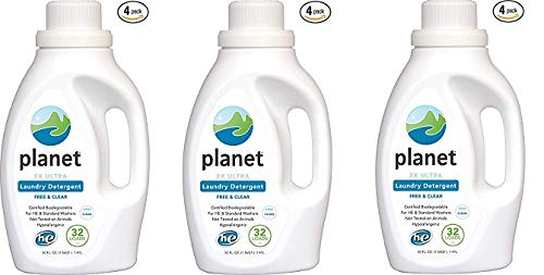 Planet 2X HE Ultra Laundry Liquid Detergent, 32-Loads, 50-Ounces Bottle (Pack of 4) (3-(Pack))