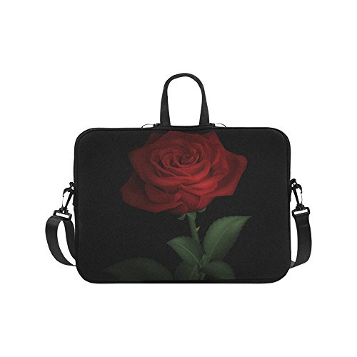 Laptop Computer Sleeves 13 13.3 Inch Red Rose Neoprene Laptop Sleeve Notebook Computer Pocket Case Tablet Briefcase Carrying Bag Laptop Shoulder Bag