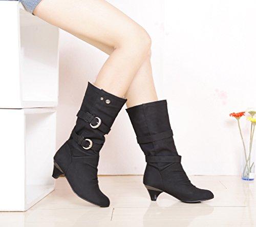 Weiches Pima Ding Stiefel Damen Schuhe Damen Stiefel Schwarz