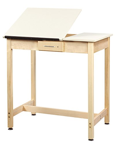 Diversified Woodcrafts DT-3SA37 UV Finish Solid Maple Wood Art/Drafting Table with 2 Piece Top, 36'' Width x 36'' Height x 24'' Depth by Diversified Woodcrafts