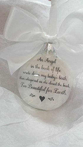 Infant Loss Memorial Christmas Ornament Sympathy Gift An Angel in the Book of Life ...