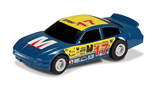 Scalextric Micro Blue #17- G2157 1:64 Scale US Stock Car (Scale Car Body 32 Slot)