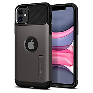 Spigen Slim Armor, Back Cover for iPhone 11 - Gunmetal
