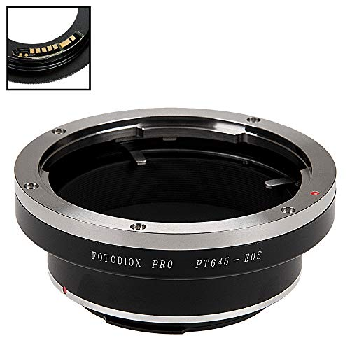 Fotodiox Pro Lens Mount Adapter Compatible with Pentax 645 (P645) Mount SLR Lens to Canon EOS (EF, EF-S) Mount D/SLR Camera Body - with Gen10 Focus Confirmation Chip