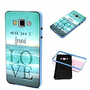 2-in-1 with You I Found Love Pattern TPU Back Cover with PC Bumper Shockproof Soft Case for Samsung Galaxy A7/A7000