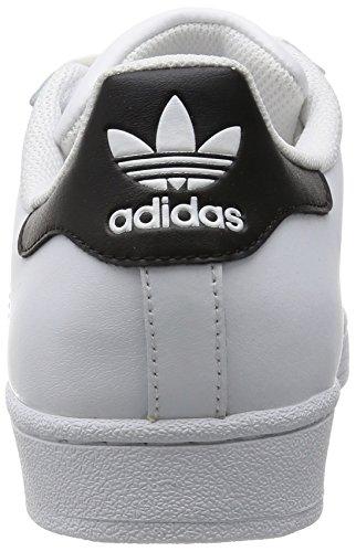 adidas Superstar W Scarpe Sportive, Donna Bianco / Nero (Ftwbla / Negbas / Ftwbla)