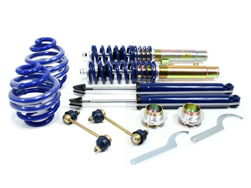 RSK Street Adjustable Coilover Kit - BMW E46 3-Series 2DR Coupe/Convertible & 4DR Sedan/Wagon (323Ci 325Ci 328Ci 330Ci 323i 325i 328i 330i) - Blue (1999 2000 2001 2002 2003 2004 ()