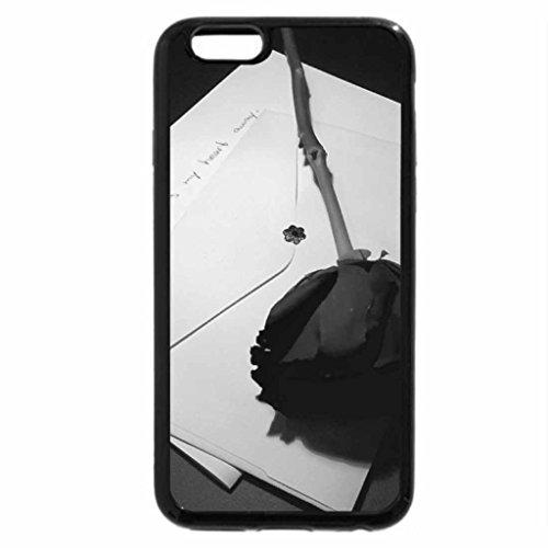 iPhone 6S Plus Case, iPhone 6 Plus Case (Black & White) - Scent of a Rose