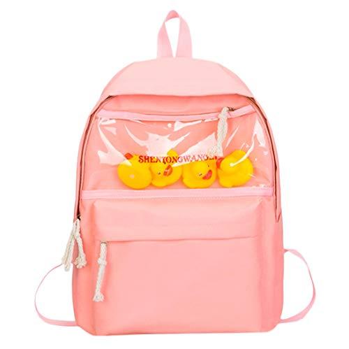 Chirldren Cartoon Duck Animal Student Backpack Toddler Preschool Bag Vertily (Pink) by Vertily Bag