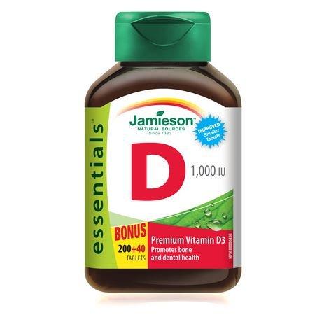 Jamieson Vitamin D 1,000 IU, 240 tabs Bonus