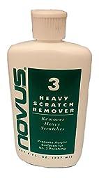 Plastics America Novus 3 Heavy Scratch Remover, 8oz Bottle
