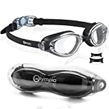 Swim Goggles for Aduts Youth Teens, Swimming Goggles with Protection case, Swimming Glasses, Anti-Fog, Clear Vision, No Leaking