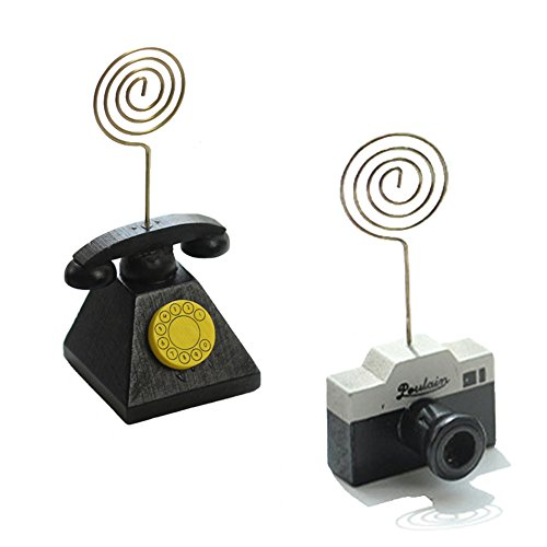 Office Memo Holders,Desk Memo Clip Holder Stand,for Displaying Photos Number Cards,Telephone and Camera Shape,Set of (Shape Magnetic Memo Holder)