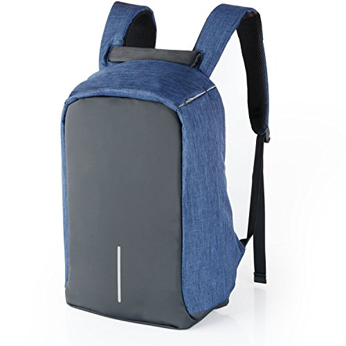 6inch Canvas 15 Travel Backpack Port with Backpack Laptop Up Anti to Charging School Theft Rucksack blue blue Business Waterproof USB wqa5T5