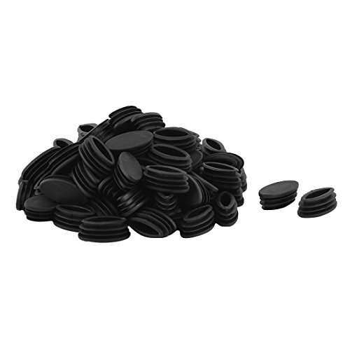 (uxcell Plastic Table Feet Oval Design Tube Pipe Insert End Cap 20mm x 39mm 80 PCS)