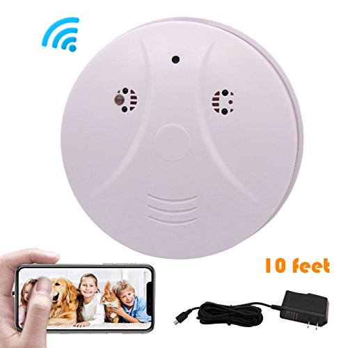 Phoncoo 2018 Upgrade WiFi Hidden Spy Camera Smoke Detector IR Night Vision Home Security Surveillance Mini Nanny Camera DVR WiFi Live Stream Video Recorder iOS, Android PC Review
