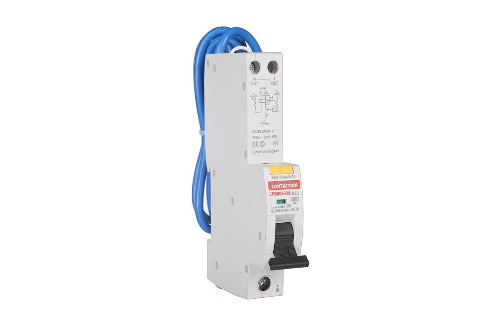 Contactum CPBR0650B Type B SP RCBO, 50 A, 6 kA - 1 Pack CPBR0650B-1PACK