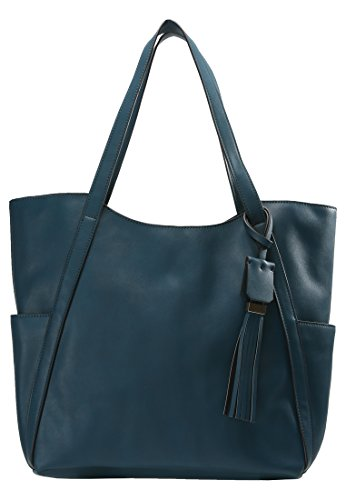 Bag Colours Designer Bag Shoulder Leather Field Synthetic Women Turquoise Fashion Handbag in Shopper for Large Anna Shopping Bold AwnpPEqPa