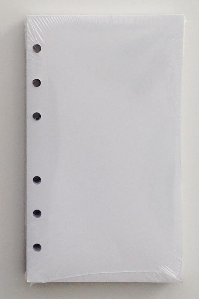 356BLANK 3-1/2 X 6 inch White Unlined Filler Paper for little 6-Ring Binder L46032, Three 100-Sheet Packs - 300 SHEETS