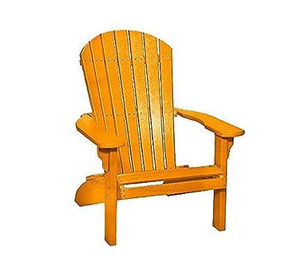 Poly Fan Back Adirondack Chair (Orange)