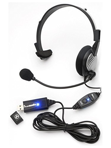 Nuance Dragon NaturallySpeaking USB Headset with Noise Cancelling boom Microphone (Usb Dragon Microphone For)