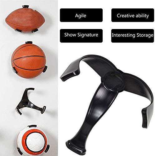 BianchiPatricia Plastic Ball Claw Wall Mount Basketball Holder Football Display Storage Rack