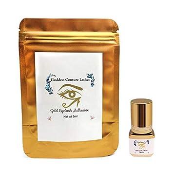 04803118cc2 Goddess Couture Lashes Gold Eyelash Adhesive | Eyelash Glue for  Professional Use | Fast 1-