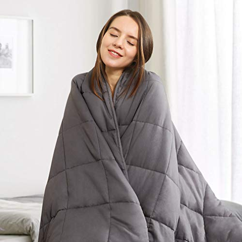 Cheap VANZAVANZU Upgraded Cozy Weighted Blanket 15 lbs Queen Size 60