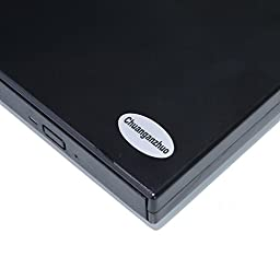 External Optical Drive USB 2.0 DVD/CD Player For Mac Windows 2000/XP/Vista/Win 7/ Win 8/Win 10,Ultra Notebook PC Desktop Computer+Dustproo Bag Case,Black