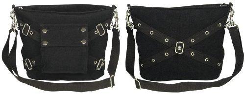 (Rothco Vintage Canvas One-Pocket Bag, Black)