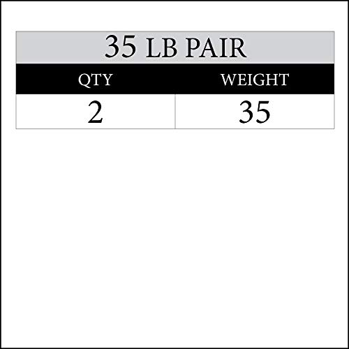 XMark 35 lb Pair Signature Plates, One-Year Warranty, Olympic Weight Plates, Cutting-Edge Design by XMark Fitness (Image #1)