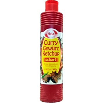 German Hela Curry spiced hot Ketchup - (800 ml) | perfect with meat,  sausages, fish, fries, pasta and rice