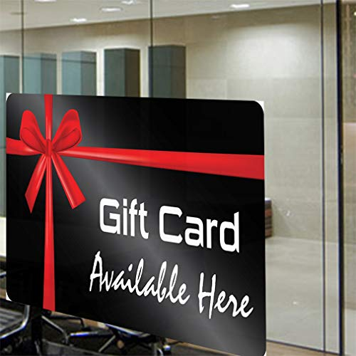Decal Sticker Multiple Sizes Gift Card Available Here Business Style U Business Gift Card Available Here Outdoor Store Sign Black - 69inx46in, by Sign Destination (Image #3)
