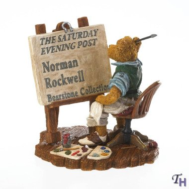 Boyds Bear Country (Boyds Bears Resin Masterpiece In The Making Norman Rockwell Bearstone - Resin 4.75 IN)